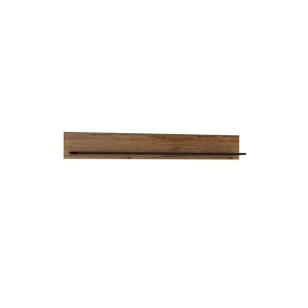 Baracoa Wall shelf 167 cm in Black and dark wood